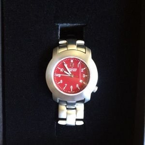 Cherry Red Swiss Army Watch